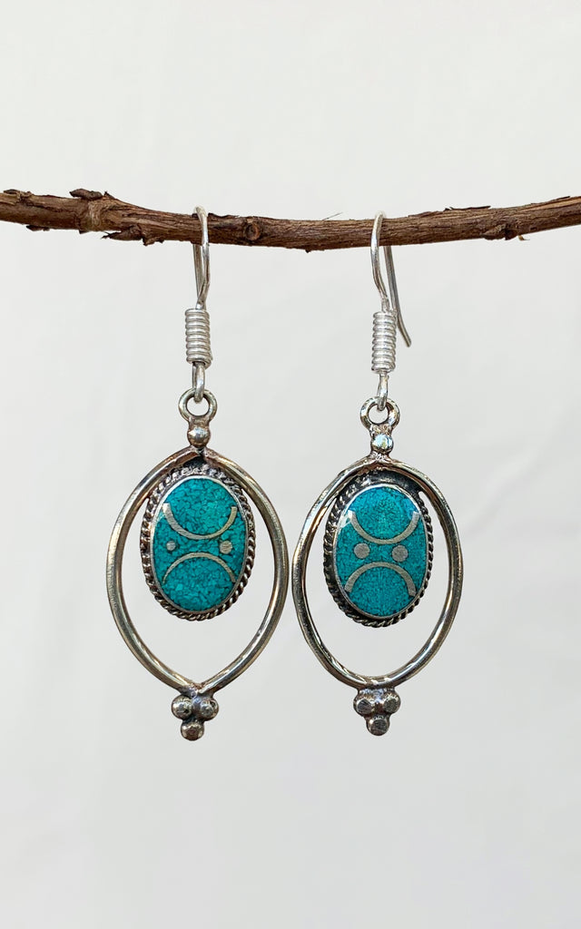 Surya Australia Tibetan Earrings from Nepal - Radha