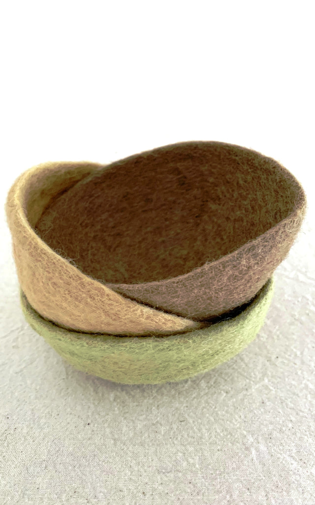 Surya Australia Fairtrade Felt Bowls from Nepal