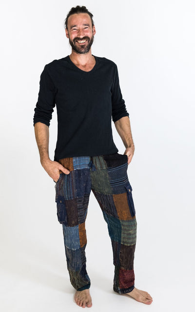 Surya Australia Mens Cotton Patch Pants from Nepal