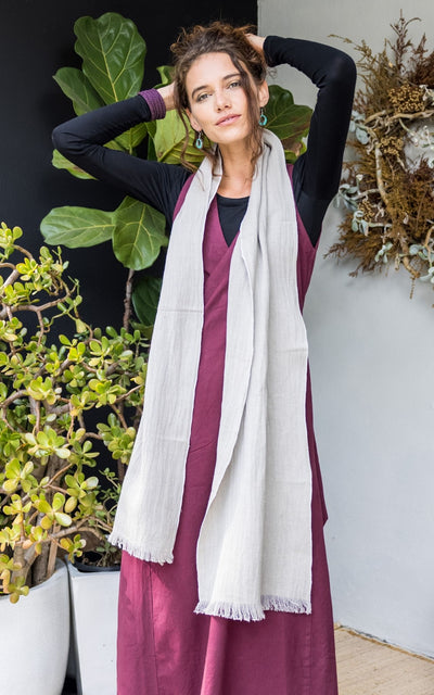 Surya Australia Fairtrade Naturally Dyed Hemp Scarf from Nepal