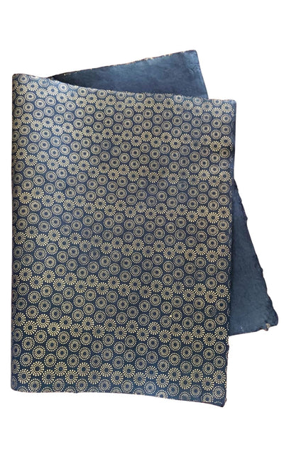 Surya Australia Fairtrade Treeles Lokta Paper Decorative Sheets from Nepal - black with gold print