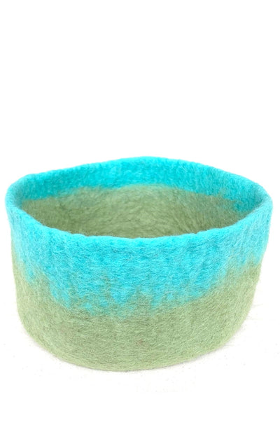 Surya Australia 100% Wool felted Bowls From Nepal - Turquoise