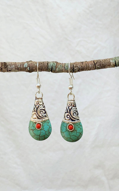 Surya Australia Tibetan Earrings from Nepal