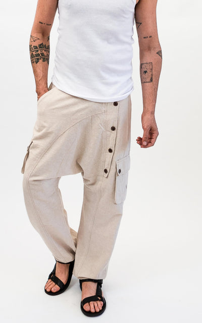 Surya Australia Ethical Cotton Drop Crotch Pants for Men - Front