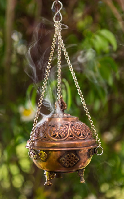 Surya Australia Fairtrade Hanging Copper incense Burner from Nepal