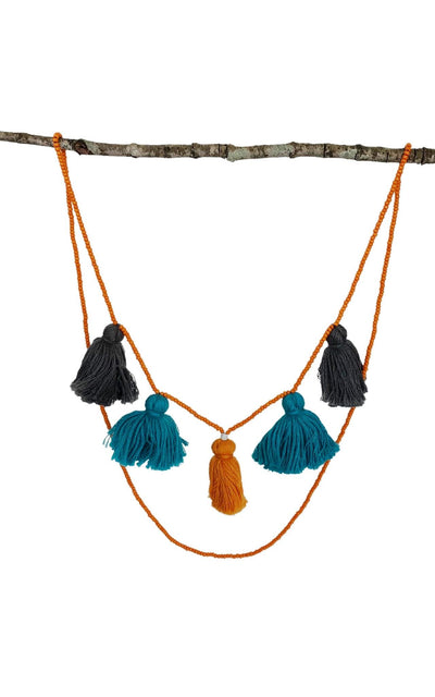 Surya Australia Cotton Tassel Necklaces from Nepal - Shakti