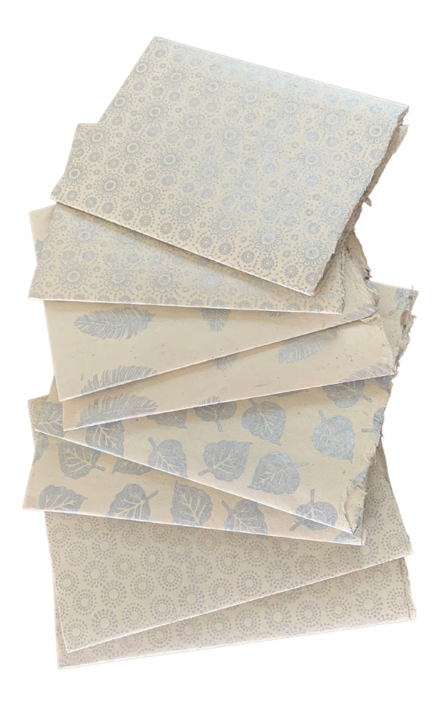 Surya Australia Fairtrade Lokta Paper Sheets from Nepal - Silver Bundle