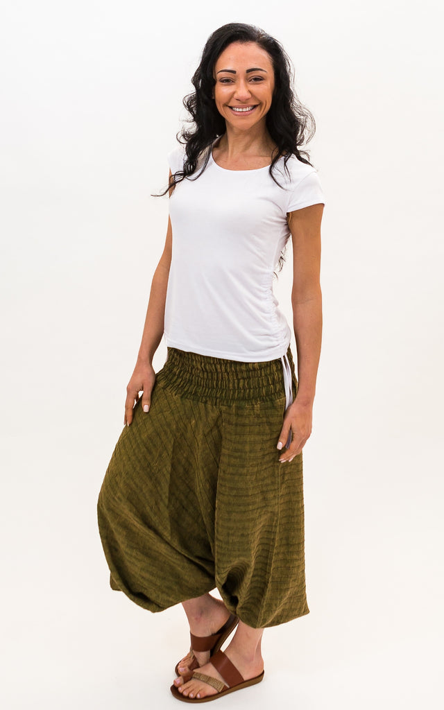 Surya Australia Cotton Low Crotch Pants - Green