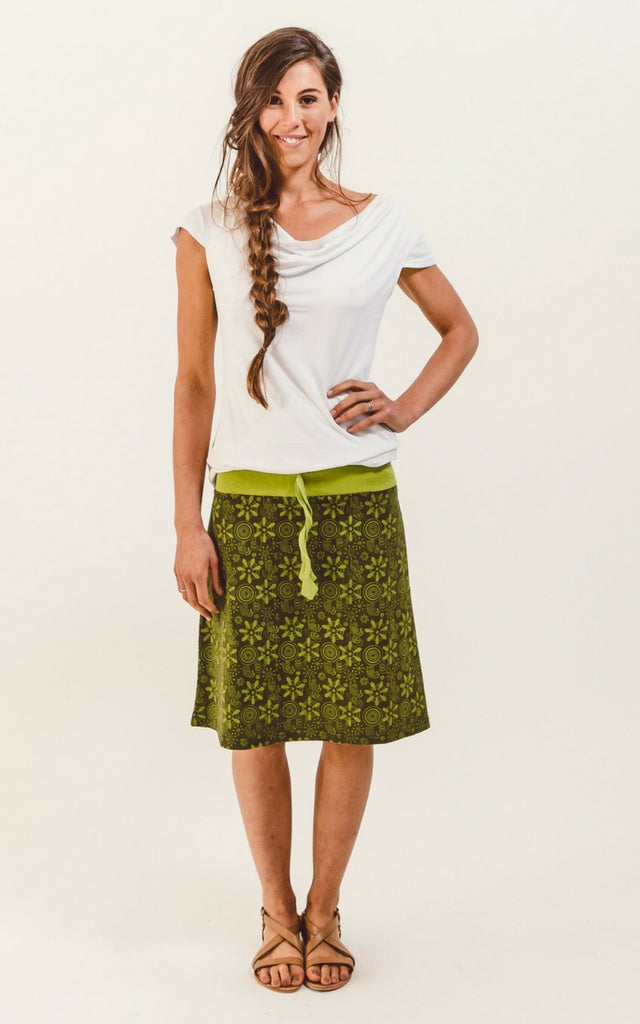Surya Australia Stella Printed Cotton Skirt - Green