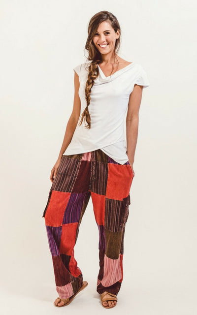 Surya Australia Cotton 'Piper' Patch Pants