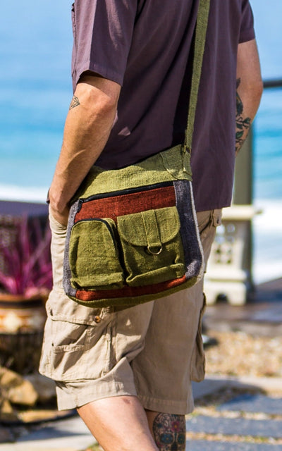 Surya Australia Hemp Safari Bag for men