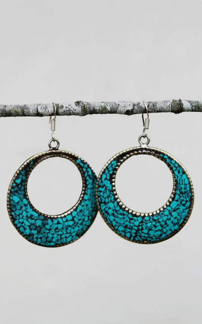 Surya Australia Tibetan Earrings - Paril