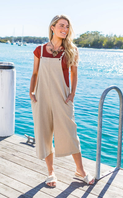 Surya Australia Cotton 'Juanita' Jumpsuit made in Nepal, pictured in Huskisson, Jervis Bay NSW