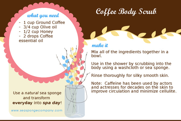 Free Bath & Beatuy 4x6 Recipe Cards - Homemade Coffee Body Scrub