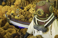 Old Diver Suit and Sea Sponges