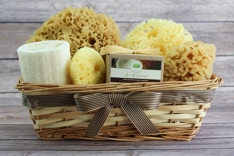 Sea Spa™ Ultimate Bath & Body Gift Basket - With Shea Butter & Coconut Sea Sponge Soap