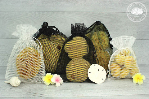 Sea Sponge Drawstring Mesh Drying & Storage Bag