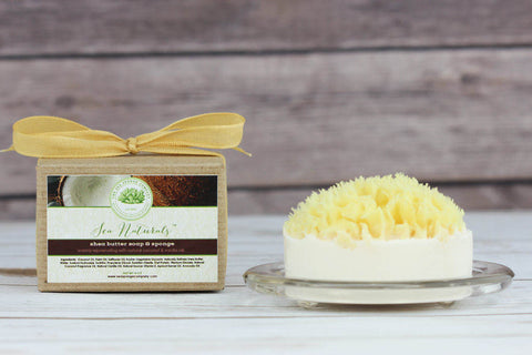 Sea Naturals™ Shea Butter Soap & Sea Sponge - Natural Coconut and Vanilla Oils