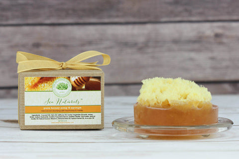 Sea Naturals™ Honey Soap & Sea Sponge - Real Honey & Vanilla