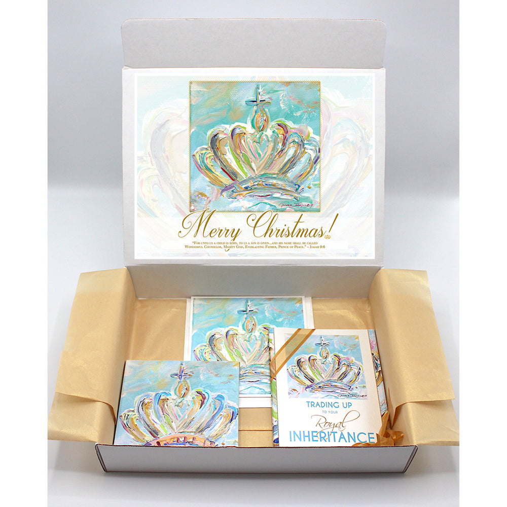 Kingdom Crown Regal Box - Blue Series-Regal Boxes-King's Daughters Regal Lifestyle Collection