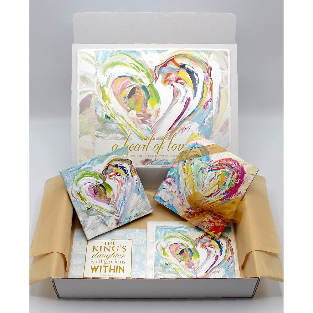 Comfort / Sympathy Gift Boxes - HEART SERIES (Choose Color)