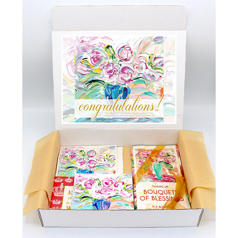 Congratulations Gift Boxes - BOUQUET SERIES (Choose Colors)