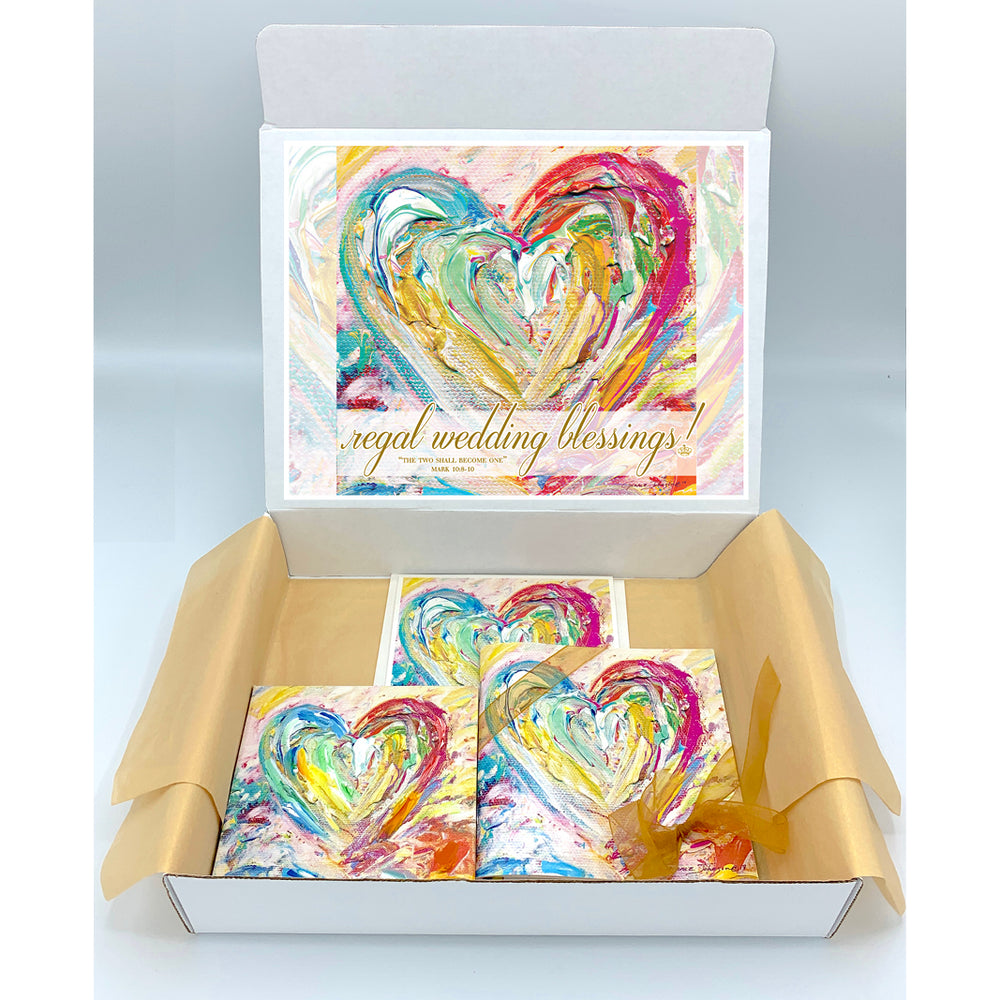 Wedding Blessings Gift Boxes - HEART SERIES (Choose Color)
