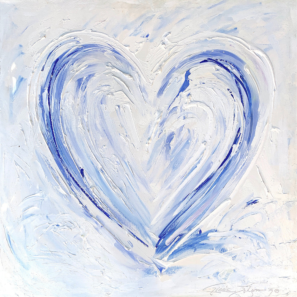 New Heart - 36x36 Original Painting-Original Fine Art-King's Daughters Regal Lifestyle Collection
