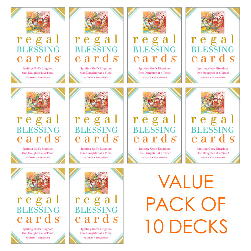 Regal Blessing Cards - 10 Packs for $100 (Pick Your Style)
