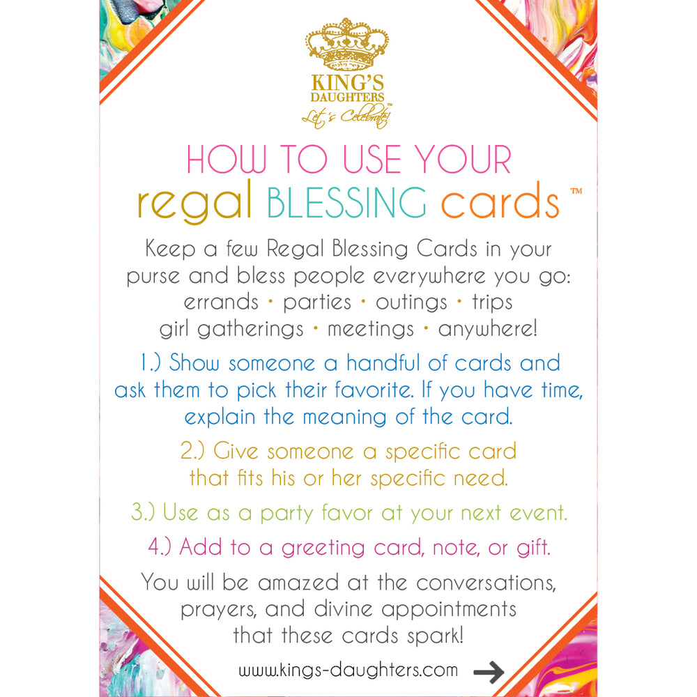 Regal Blessing Cards - Bouquet of Blessings-Regal Blessing Cards-King's Daughters Regal Lifestyle Collection