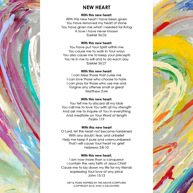 New Heart • Giclee 13-Giclee-King's Daughters Regal Lifestyle Collection