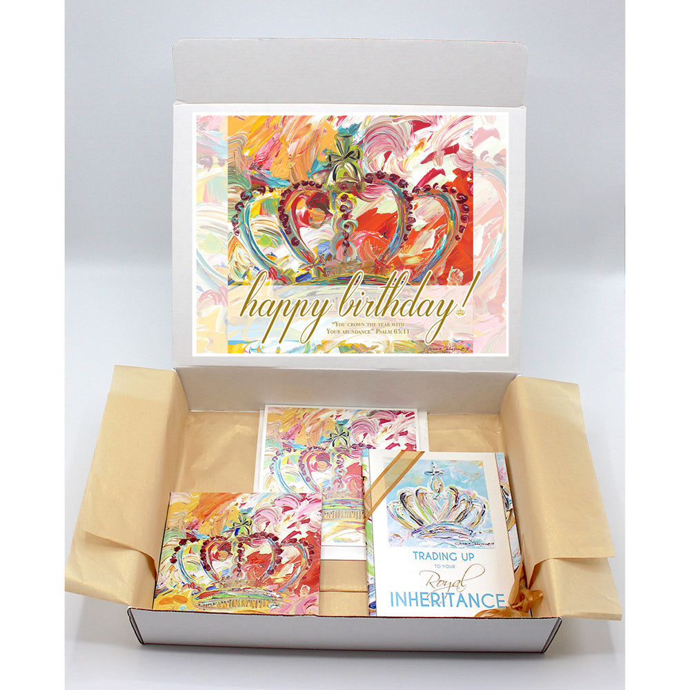 Happy Birthday Gift Boxes - CROWN Series (Choose Color)