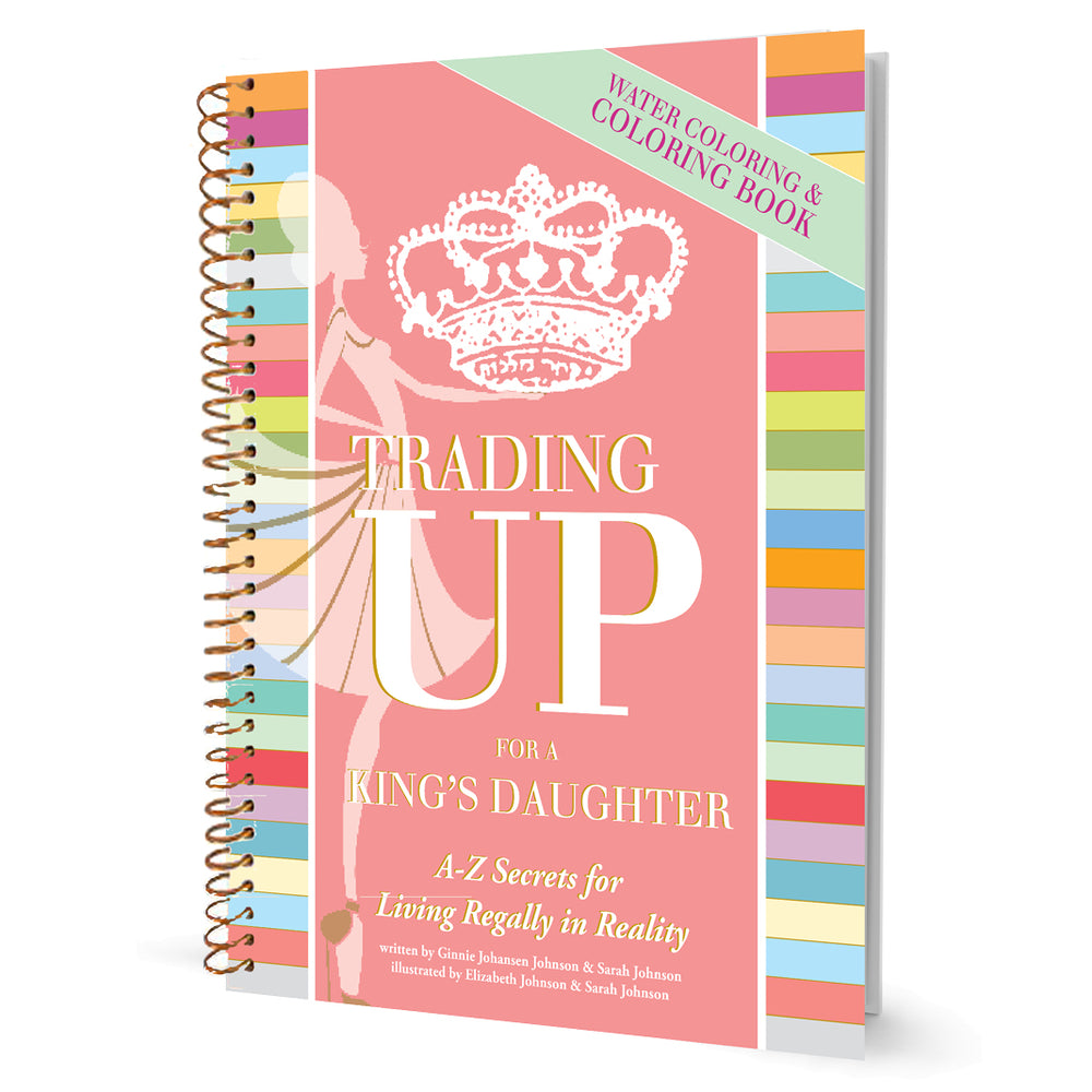 Trading Up Watercoloring Book-Books-King's Daughters Regal Lifestyle Collection