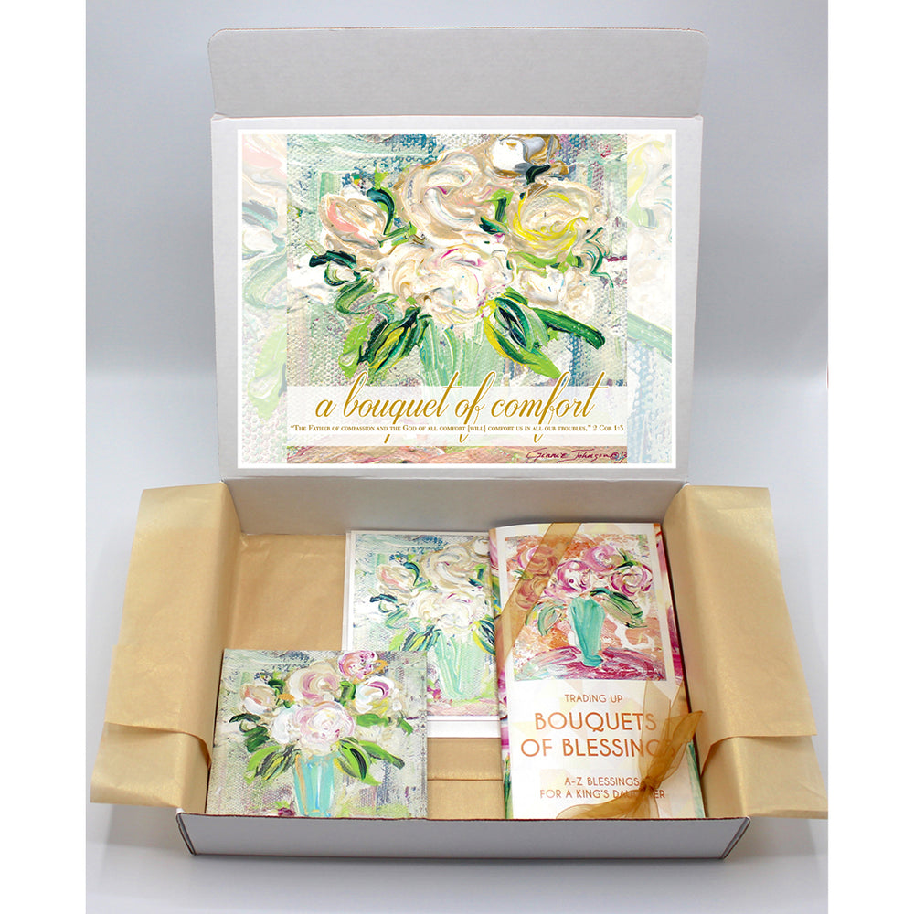 Comfort / Sympathy Gift Boxes - BOUQUET SERIES (Choose Colors)