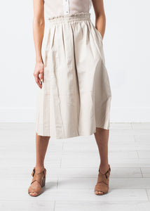 Eulera Leather Skirt in Cream