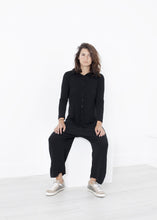 Load image into Gallery viewer, Knit Hooded Jumpsuit in Black