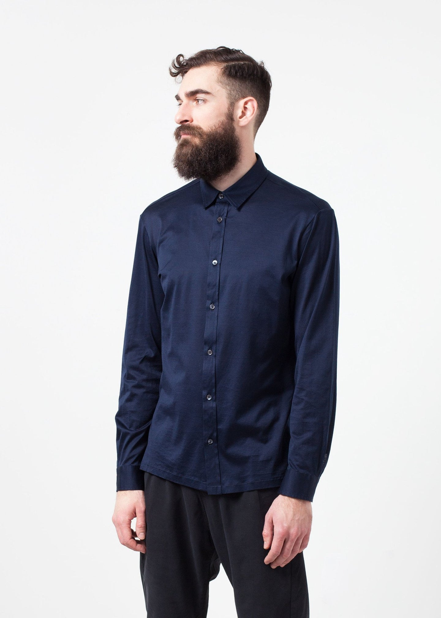 Scotland Button-Up in Navy