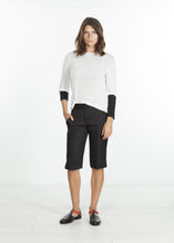 Load image into Gallery viewer, Square Stitch Knee Short in Black