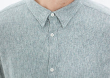 Load image into Gallery viewer, Kasuri Jersey Button-Up in Blue Grey
