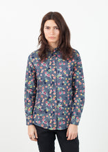 Load image into Gallery viewer, Long Sleeve Blouse in Black/Floral