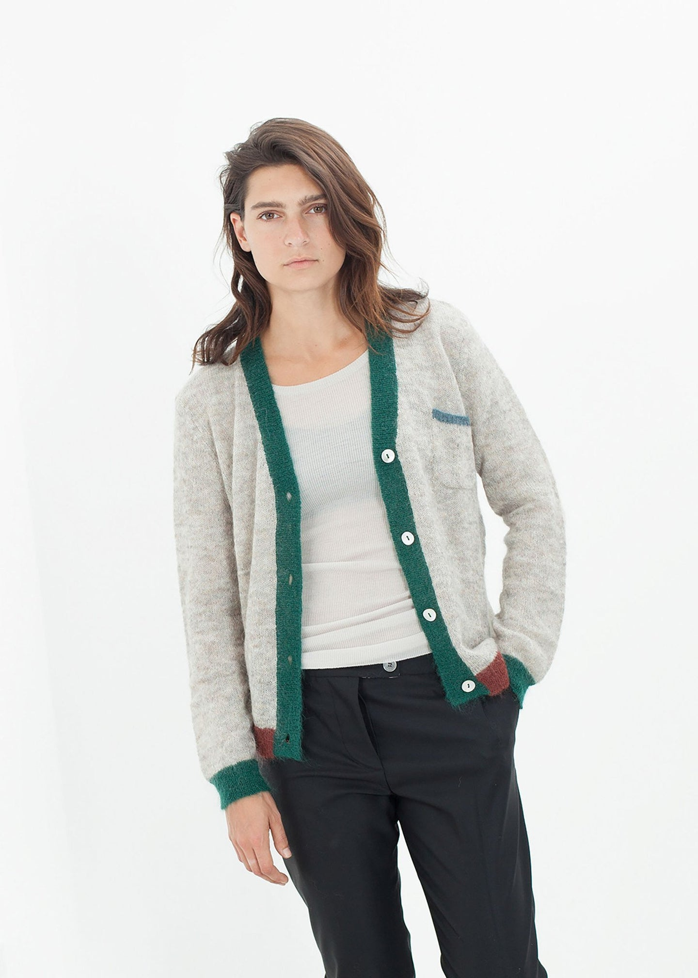 Deskle Cardigan in Heather