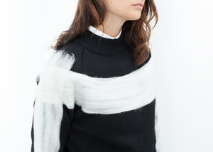 Contrast Felted Sweater in Black