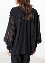Load image into Gallery viewer, Poet Silk Sweater in Black