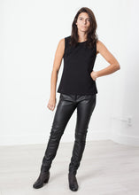 Load image into Gallery viewer, Leather Panel Trouser in Black