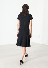 Load image into Gallery viewer, Lined Silhouette Dress in Black