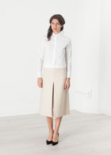 Load image into Gallery viewer, Tulle Pleat Skirt in Cream