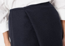 Load image into Gallery viewer, Pleated Wool Skirt in Navy