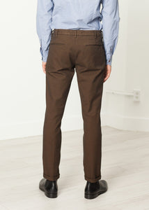 Diamond Weave Trouser in Hazel