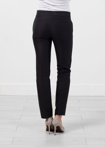 Straight Seam Trouser in Black