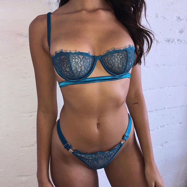 Sexy mesh  lace underwear set